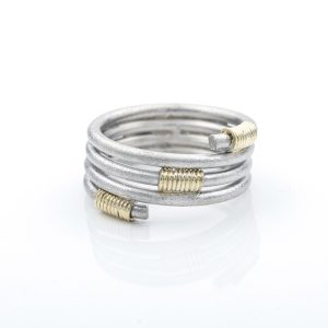 Ring Zilver _ Helix 4